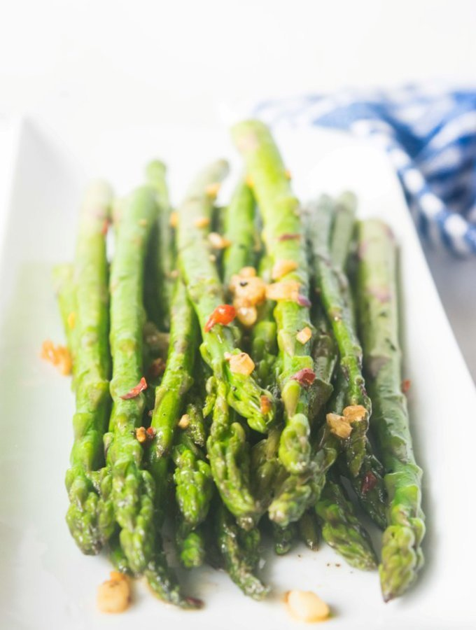 Brown Butter Chili Garlic Asparagus Recipe